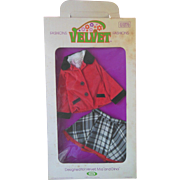 Ideal 1972 Velvet Mia Dina Crissy Fashions Outfit NRFP Mint in Box