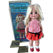 Mattel Chatty Cathy Doll with Box Vintage 1969