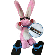 Energizer Bunny 1990s Plush Stuffed Easter Bunny Rabbit 23'' Drum Sunglasses Flip Flops Mint in Bag