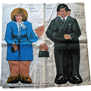 1981 Dean's Rag Princess Diana & Charles Royal Wedding Cloth Doll Cut Out uncut
