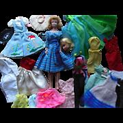 1960s Barbie Midge Doll Gown Nurse Dress Mod Wardrobe