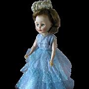 1950s American Character Toni Teen Fashion Doll in Gown & Pearl Tiara