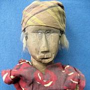 Antique Liberian African Wood Doll Figure Statue