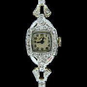 Vintage Platinum Diamond Hamilton Ladies Dress Watch