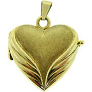 Vintage 14 Karat Yellow Gold Heart Locket