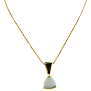 Estate 14 Karat Yellow Gold Opal Pendant