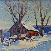 "Clement Metivier    ""Barn in Winter"""