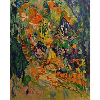 Hermione Palmer   Abstract Portrait  20x16 oil on canvas