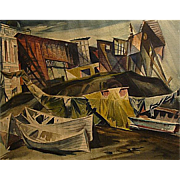 John De Cuir   Boats and Shacks