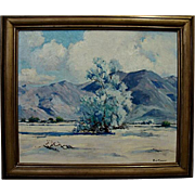 "Paul Conner  ""Smoke Tree-Blue Desert"""