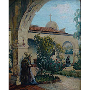 "Hannah Tempest Jenkins  ""A Meeting at the Mission San Juan Capistrano"""