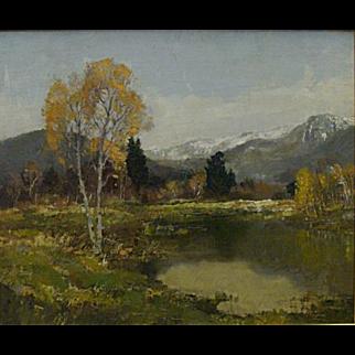 Unknown artist-American impressionist landscape