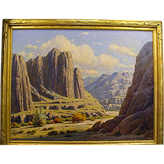 "Paul Grimm   ""Nature's Sculpture-Box Canyon"""