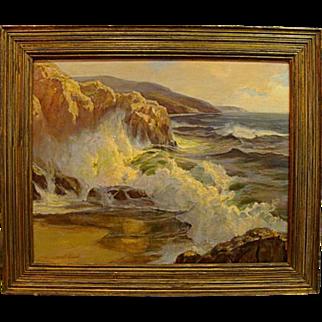 "Joseph Lindahl  ""Crashing California Surf"""