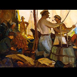"""""""San Pedro Fishermen"""" by Barton Manbert"""