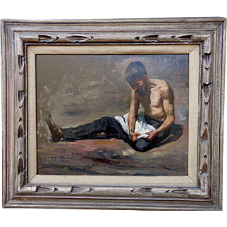 """Classic oil Study- """"The Peasant"""""""