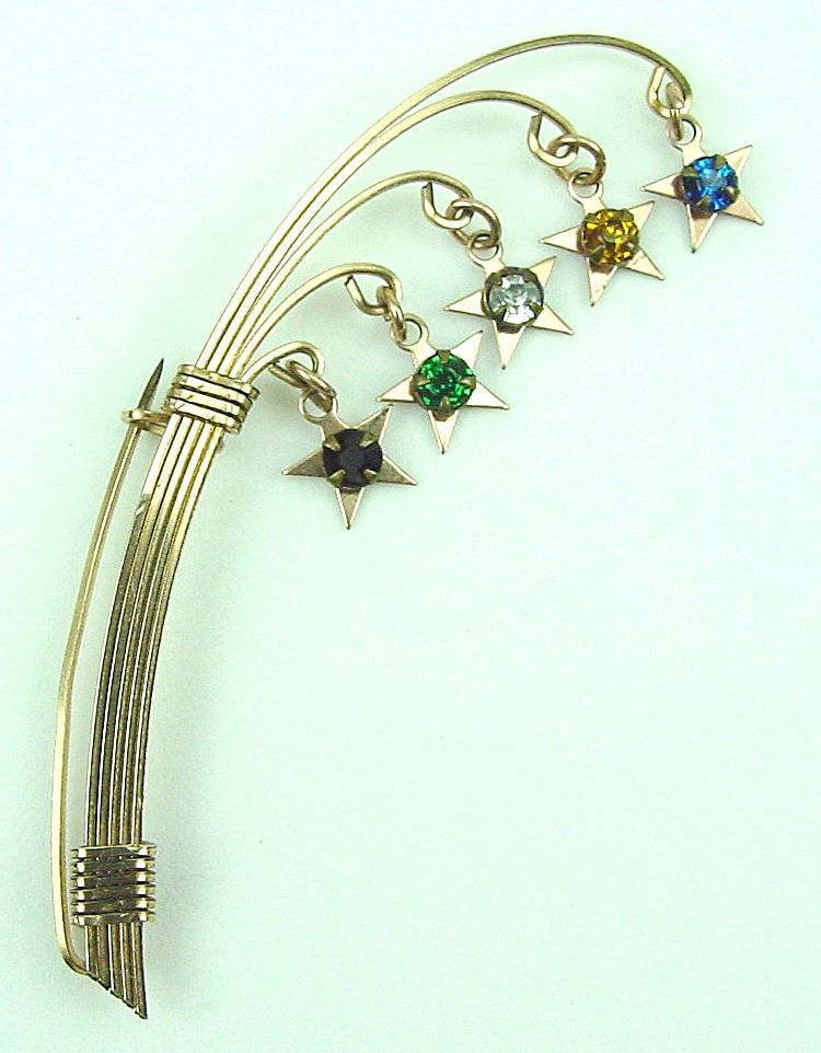 Victorian Arching Branches w/Dangling RS Stars