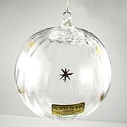 Kosta Boda Sweden Lead Crystal Ball Christmas Ornament