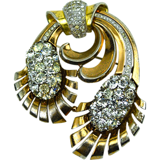 Pennino Pinecone Brooch White RS, Rose & Yellow Gold Book Piece