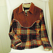 Authentic Cowgirl Suede and Wool Shirt 1940's-50's