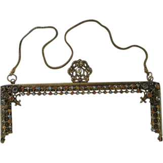 Antique Jeweled Purse Frame