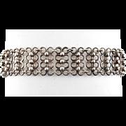 Modernist .835 Silver German/European Beaded Rings Link Bracelet