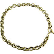 Status CAROLEE Hammered Look Link Chain Necklace with Toggle Clasp
