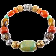 Carolyn Pollack Relios Multi Gemstone Bracelet, Magnetic Clasp