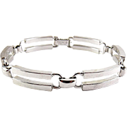 Danecraft Sterling Silver Double Bar Modernist Links Bracelet - Modernist