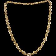Art Deco Sterling Silver Collet Set Crystals Line Necklace (Bezel Set)