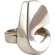 David Andersen Sterling Silver Free Form Modernist Sculpted Ring