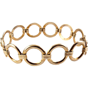 1940's Retro Gold Filled Rings Bracelet - Engel Bros.