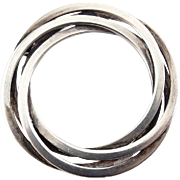 Hermann Siersbol Sterling Silver Circle Brooch Pin - Denmark Modernist