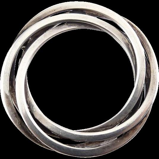 Hermann Siersbol Sterling Silver Circle Brooch Pin - Denmark Modernist