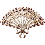 Lang Large Sterling Silver Pierced Hand Fan Pin