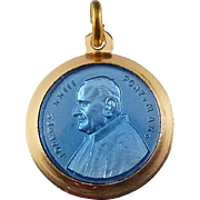 Pope John 23rd Reliquary Relic Pendant - Cloth Fragment, Joannes XXIII