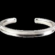 BOMA Sterling Silver Cuff Bracelet - Concave Sculptural Design