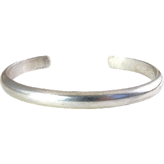 Sterling Silver Handwrought Cuff Bracelet, Timeless Colonial Williamsburg CW American Style