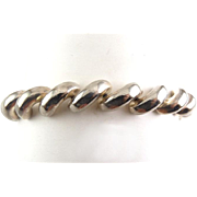 Italian Sterling Silver San Marco Link Bracelet, 7 ½ Inches Length