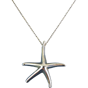 Tiffany Elsa Peretti Lg Starfish Pendant Necklace, 39mm, 16 Inch Necklace