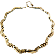 1960's Trifari Golden Leaves Garland Necklace - Adjustable