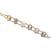 Van Dell Gold-Filled Multicolor Cameos Bracelet