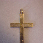 Esemco Solid 14K Yellow Gold Beautiful Cross w/ Loop