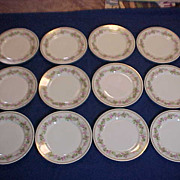 Set of 12 Plates  Made in France For Davis Collamore Ltd