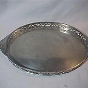 Large oval Pewter Tray Dutch Made in Holland Jeka Tiel Gallery sides