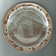 Staffordshire Ware Meakin Plate Lincoln Birthplace Nancy Lincoln Inn Kentucky