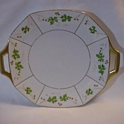 Limoges France Berry & Leaf Gold Trimmed Serving Plate - Red Tag Sale Item