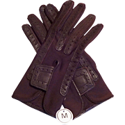 Deadstock Isotoner Driving Gloves Vintage 1980s Brown Medium