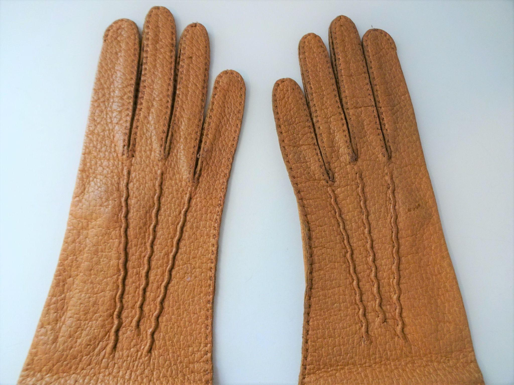 Vintage ladies leather opera gloves - Roll Over Large Image To Magnify Click Large Image To Zoom