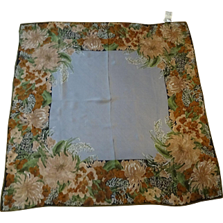 Vera Neumann Pure Silk Scarf Vintage 1970s Signed New With Tags Large Square